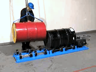 Images of Stationary Drum Rollers to Mix Contents of a