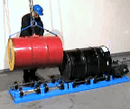 Load Stationary Drum Roller with model 41 Drum Lifting Hook