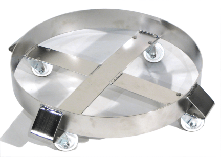 Model 14-SSC Stainless Steel Drum Dolly with Stainless Steel Casters