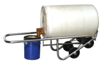 pour drum into 5-gallon pail with stainless steel barrel truck
