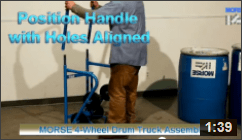How to Assemble a 4-Wheel Drum Truck