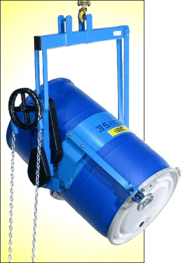 Heavy-duty drum carrier with Top Rim Clamp Option