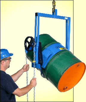 Below-hook drum carrier
