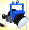 Below hook drum handler to lift and pour drum up to 2500 Lb.