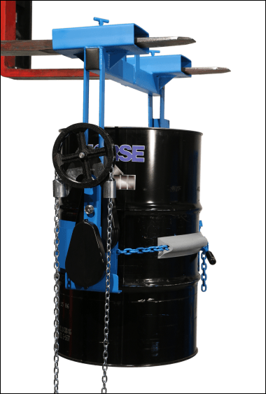 Lift drum with your forklift or below-hook