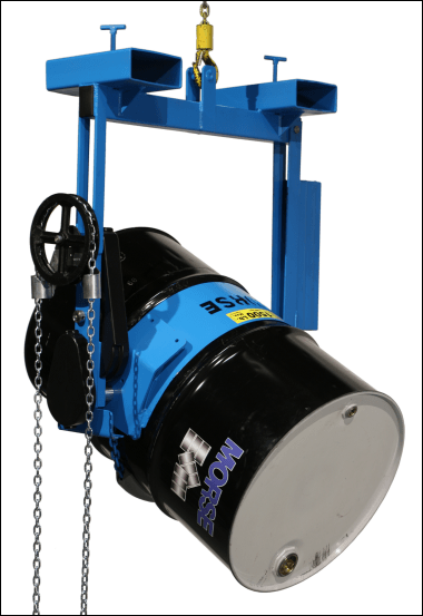 Lift and pour drum with your hoist or crane