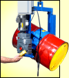 Forklift attachment with battery power tilt to lift and pour drum up to 1500 Lb.