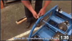 How to Repair the Axle and Wheels on a Portable Drum Roller