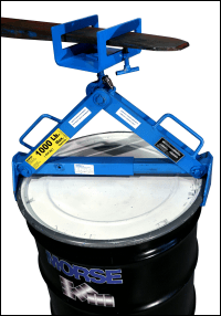Lift a drum with model 284 Fork Hook and model 92 Below-Hook Drum Lifter