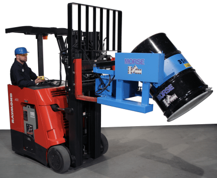 Forklift attachment with battery powered drum tilt - Model 285A-BP