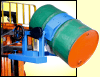 Forklift attachment to lift and pour drum - Morse Forklift-Karriers