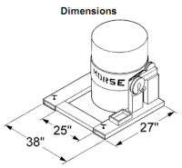 Morse Forklift Drum Attachments - Forklift drum carriers