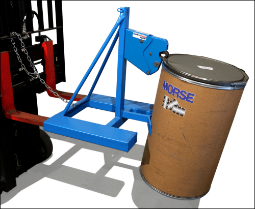 MORSPEED 1000 Forklift Attachment moving a fiber drum