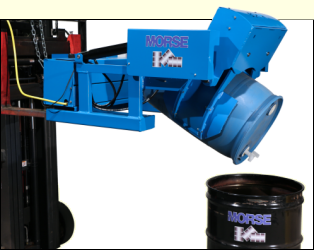 Install Grip Pads to pour plastic or fiber drum