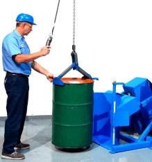 Drum Rotators - Morse Tilt-To-Load Drum Tumblers - 55 Gallon Drum