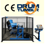 Drum Tumbler with Safety Enclosure and Automated Controls