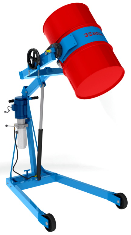 Hydra-Lift drum carrier with electric powered drum lift - Model 400A-72-120