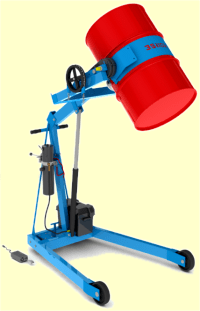 Hydra-Lift drum carrier with battery power lift - model 400A-72-125
