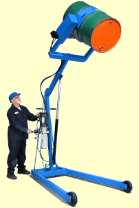 "Hydra-Lift drum carrier with 96"" lift height and electric power lift and tilt"