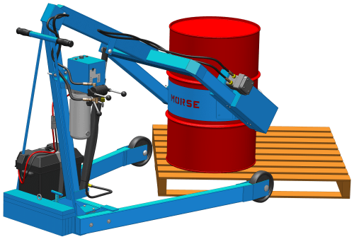 Custom model # 400S-XR-115 allows you to take drum on and off pallet