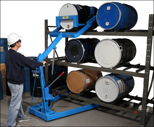 "Rack drum up to 72"" high with Morse Omni-Lift Drum Rackers"