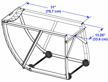 Morse Model 40 Drum Cradle Dimensions