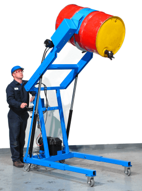 Hydraulic Barrel Dumpers With Battery Power Lift And Tilt