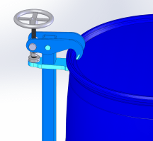 Top Rim Clamp for your rimmed 55-gallon plastic drum
