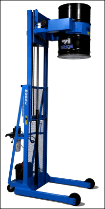 Vertical-Lift Drum Pourer with fully drum inverted