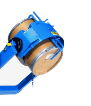 Drum dumper shown with Optional Diameter Adaptor for smaller drum