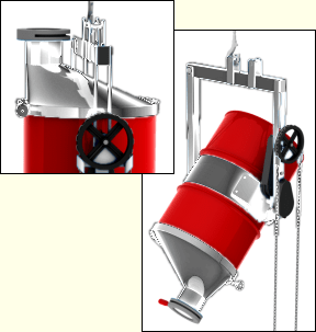 Asymmetric Drum Cone with slide gate valve - Morse model # 5SS-SG-90-23