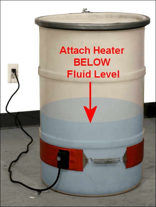 Attach Heater BELOW Fluid Level