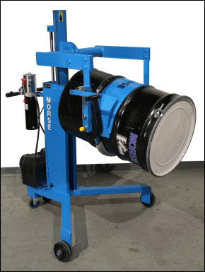 Drum Palletizer with geared drum tilt