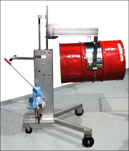Model 82A-SS Stainless Steel Drum Mover / Pourer / Palletizer