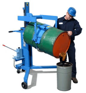 Model 82A pouring 55-gallon steel drum
