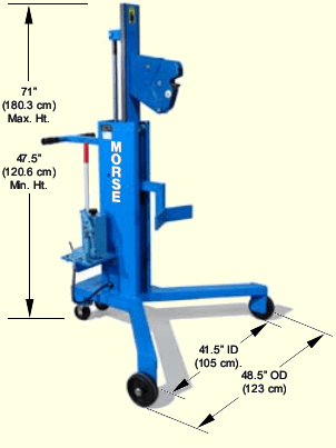 Drum transporter / palletizer dimensions