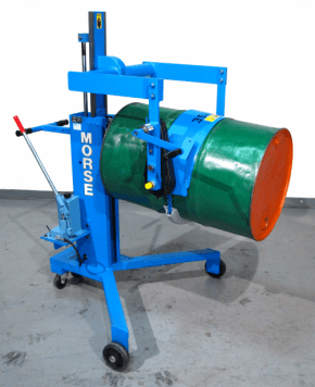 Custom drum mover / pourer / palletizer with hand crank drum tilt