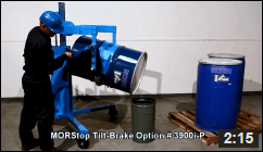 Video of Drum Palletizer with Geared Tilt Control