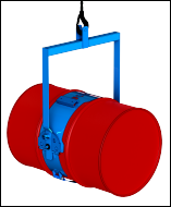 Lock drum in horizontal position for pouring