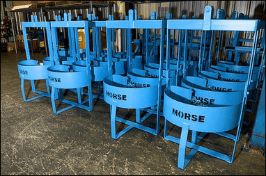 Morse designs and manufactures 55-gallon drum handlers