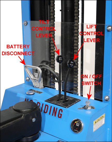 Forklift Control Levers : Images of morse power propelled drum pourer to pour