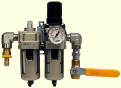 Filter, regulator, lubricator and on-off valve