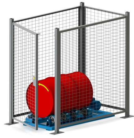 Safety Enclosure for Single Stationary Drum Roller