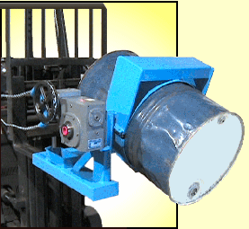 Forklift Attachment to lift and pour 2500 Lb. drum