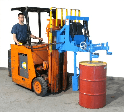 MORStak Forklift Mounted Drum Racker