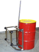 Custom stainless steel 55-gallon drum cradle / barrel tipper