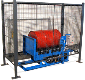 Drum Roller in Enclosure with Safety Interlock