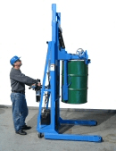 Lift upright drum with MORStak drum racker