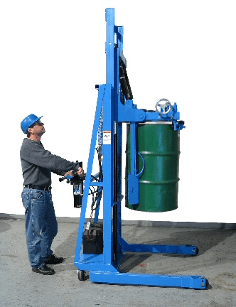 Raise upright drum, or horizontal drum, from the floor with MORStak drum racker.