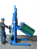 Tilt drum to horizontal with MORStak drum racker